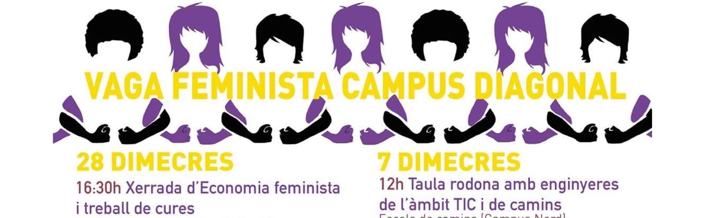 Vaga feminista campus Diagonal