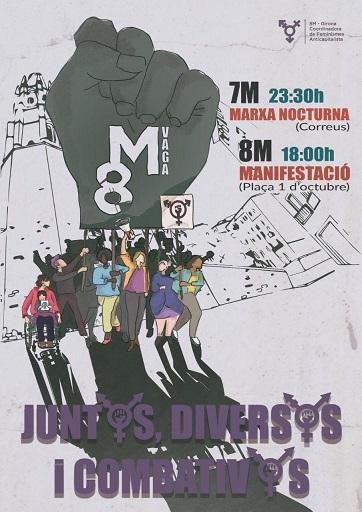 Manifestació 8M 2020 Girona