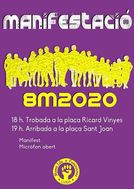 Manifestació 8 març Lleida
