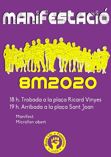 Manifestació 8M 2020 Lleida