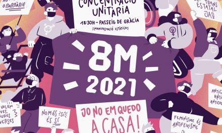 MESURES DE SEGURETAT PER REALITZAR LA MANIFESTACIONS ESTÀTICA  DEL 8MARÇ A LES 19H